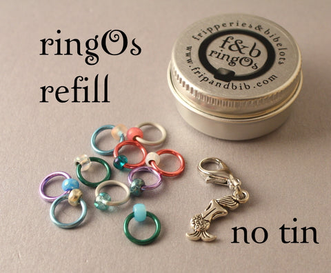 ringOs REFILL ~ Mermaid LIMITED EDITION ~ Snag Free Ring Stitch Markers for Knitting