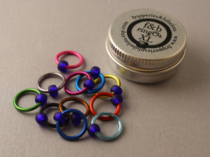 ringOs XL Mind The Gap - Snag-Free Ring Stitch Markers for Knitting