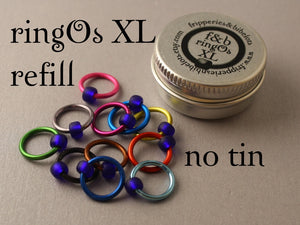 ringOs XL REFILL - Mind The Gap - Snag-Free Ring Stitch Markers for Knitting