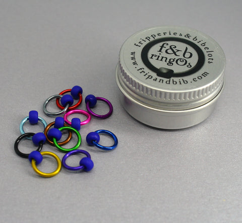 ringOs Mind The Gap ~ Snag Free Ring Stitch Markers for Knitting
