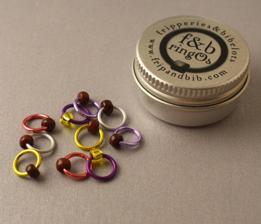 ringOs Mini Eggs ~ LIMITED EDITION Snag Free Ring Stitch Markers for Knitting