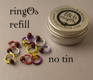 ringOs REFILL ~ Mini Eggs ~ LIMITED EDITION Snag Free Ring Stitch Markers for Knitting