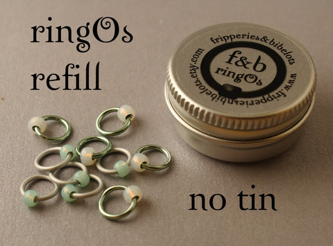 ringOs REFILL ~ Minty Fresh ~ Snag Free Ring Stitch Markers for Knitting