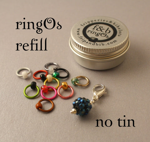 ringOs REFILL ~ Monster Mash LIMITED EDITION ~ Snag Free Ring Stitch Markers for Knitting