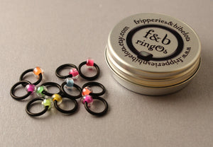 ringOs Neon ~ Snag Free Ring Stitch Markers for Knitting