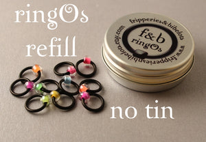 ringOs REFILL ~ Neon ~ Snag Free Ring Stitch Markers for Knitting