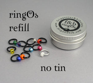 ringOs REFILL ~ New Year ~ Limited Edition Snag Free Ring Stitch Markers for Knitting