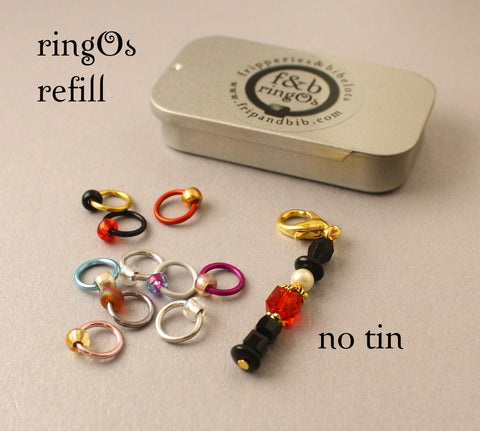 Christmas ringOs REFILL ~ Nutcracker ~ Limited Edition Snag Free Ring Stitch Markers for Knitting