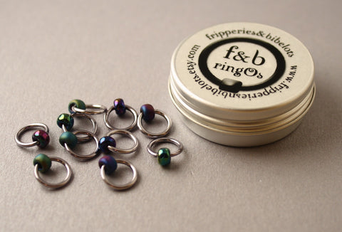 ringOs Oil Slick ~ Snag Free Ring Stitch Markers for Knitting