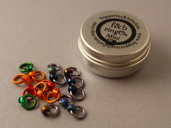 ringOs Mini Oil Slick - Snag-Free Ring Stitch Markers for Sock Knitting