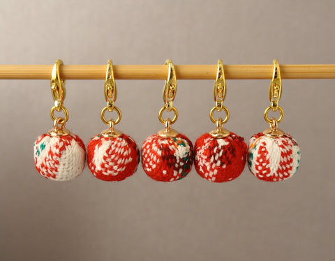 Woolly Christmas Baubles Stitch Markers for Crochet