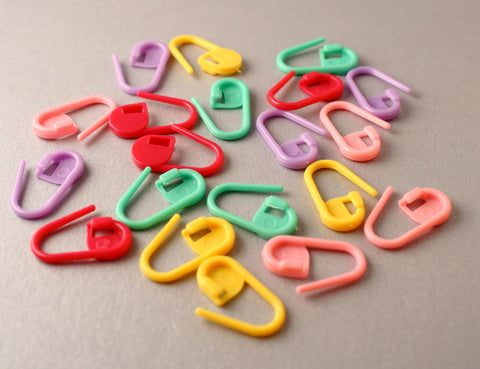 Colourful Padlock Style Locking Stitch Markers or Row Markers for Knitting and Crochet