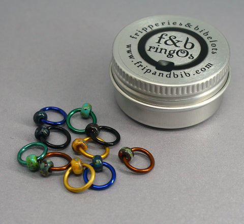 ringOs Patina ~ Snag Free Ring Stitch Markers for Knitting