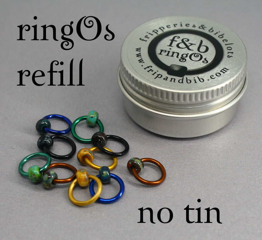 ringOs REFILL ~ Patina ~ Snag Free Ring Stitch Markers for Knitting