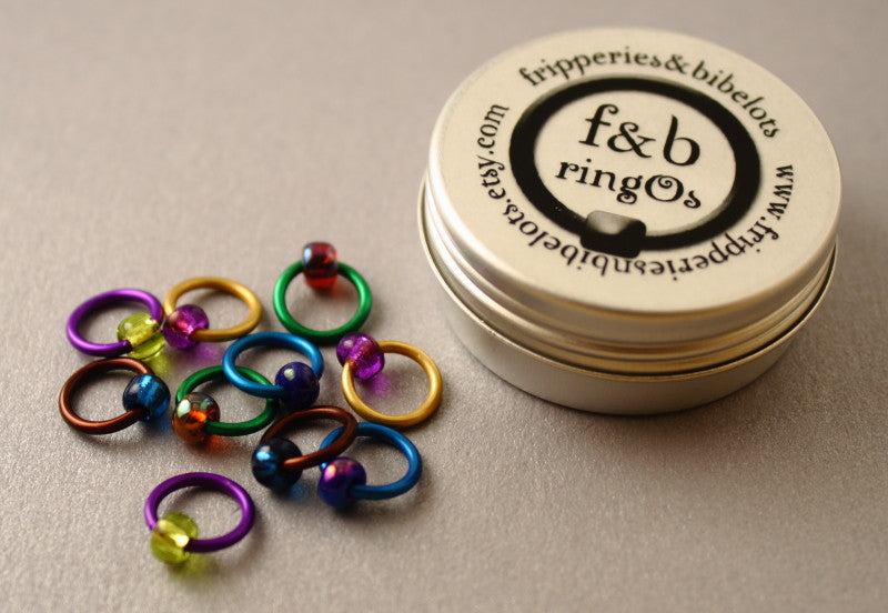 ringOs Peacock ~ Snag Free Ring Stitch Markers for Knitting