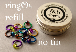 ringOs REFILL ~ Peacock ~ Snag Free Ring Stitch Markers for Knitting