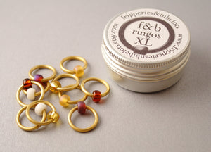 ringOs XL Peanut Butter - Snag-Free Ring Stitch Markers for Knitting
