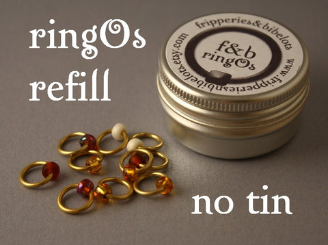 ringOs REFILL ~ Peanut Butter ~ Snag Free Ring Stitch Markers for Knitting