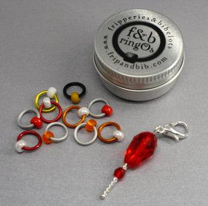 ringOs Pennywise ~ HALLOWEEN LIMITED EDITION ~ Snag Free Ring Stitch Markers for Knitting