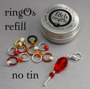 ringOs REFILL ~ Pennywise ~ HALLOWEEN LIMITED EDITION ~ Snag Free Ring Stitch Markers for Knitting