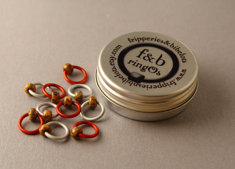 ringOs Popcorn ~ Snag Free Ring Stitch Markers for Knitting