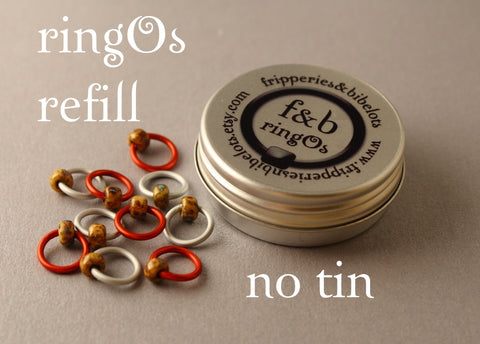 ringOs REFILL ~ Popcorn ~ Snag Free Ring Stitch Markers for Knitting