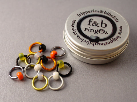 ringOs Puffin ~ Snag Free Ring Stitch Markers for Knitting