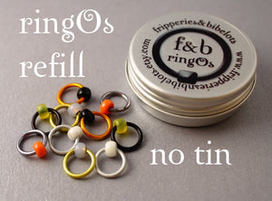 ringOs REFILL ~ Puffin ~ Snag Free Ring Stitch Markers for Knitting