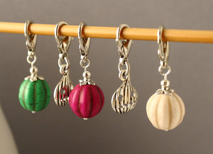 Halloween Pumpkin Patch Stitch Markers for Crochet LIMITED EDITION