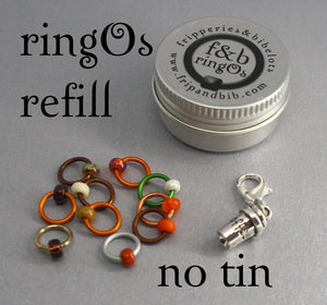 ringOs REFILL ~ Pumpkin Spice Latte ~ AUTUMN LIMITED EDITION ~ Snag Free Ring Stitch Markers for Knitting