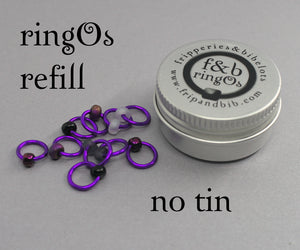 ringOs REFILL ~ Purple Velvet ~ Snag Free Ring Stitch Markers for Knitting