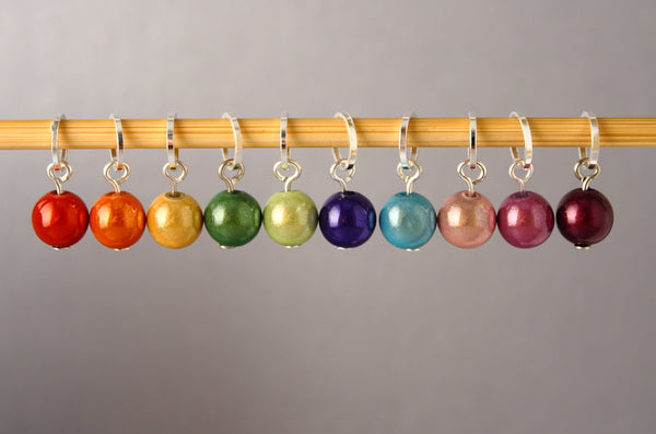 Colourful Bubbles Stitch Markers for Knitting and Crochet