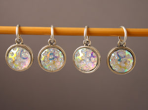 Rainbow Ice Crystal Stitch Markers for Knitting