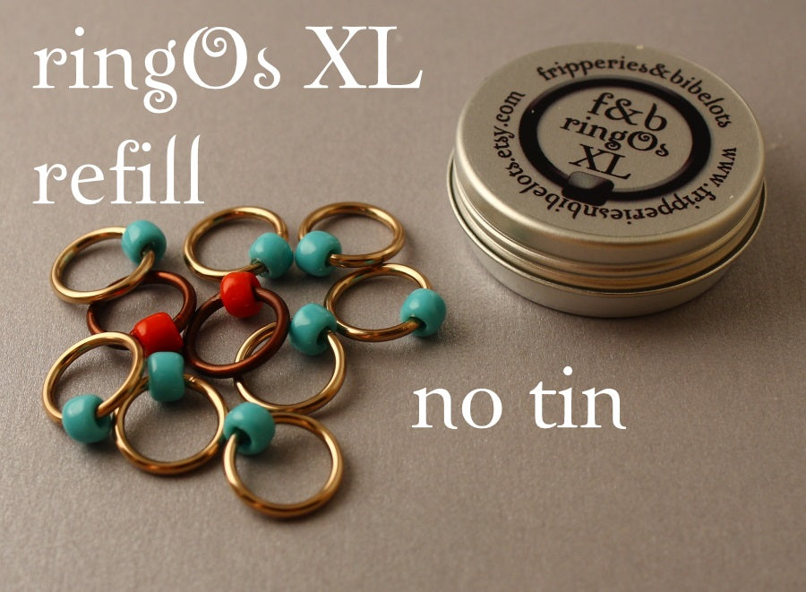 ringOs XL REFILL - Robin's Nest - Snag-Free Ring Stitch Markers for Knitting