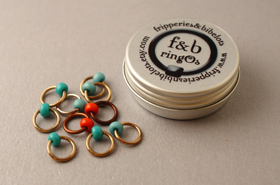 ringOs Robin's Nest ~ Snag Free Ring Stitch Markers for Knitting