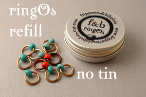 ringOs REFILL ~ Robin's Nest ~ Snag Free Ring Stitch Markers for Knitting