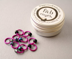 ringOs Rock Chick ~ Snag Free Ring Stitch Markers for Knitting