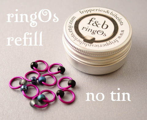 ringOs REFILL ~ Rock Chick ~ Snag Free Ring Stitch Markers for Knitting