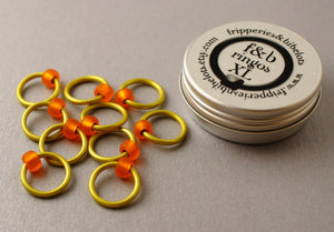 ringOs XL Rubber Ducky - Snag-Free Ring Stitch Markers for Knitting
