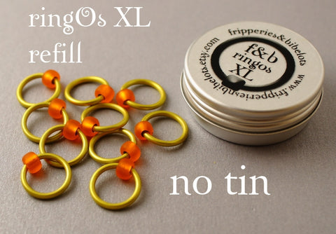ringOs XL REFILL - Rubber Ducky - Snag-Free Ring Stitch Markers for Knitting