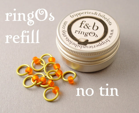 ringOs REFILL ~ Rubber Ducky ~ Snag Free Ring Stitch Markers for Knitting