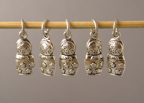 Russian Doll Stitch Markers for Knitting