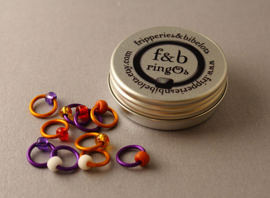 ringOs Saffron ~ Snag Free Ring Stitch Markers for Knitting