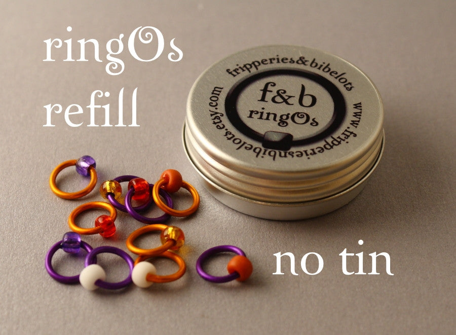 ringOs REFILL ~ Saffron ~ Snag Free Ring Stitch Markers for Knitting
