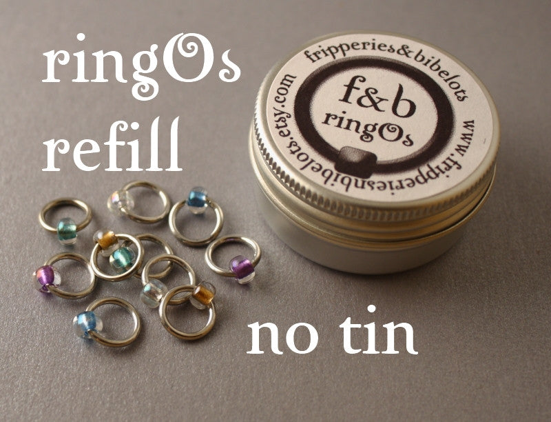 ringOs REFILL ~ Serenity ~ Snag Free Ring Stitch Markers for Knitting
