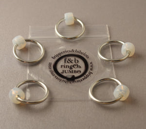 ringOs JUMBO Silver - Snag-Free Ring Stitch Markers for Knitting