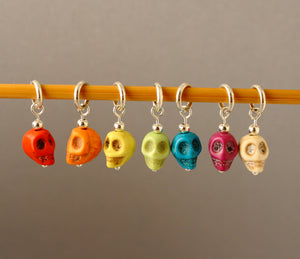 A Little Skullduggery Stitch Markers for Knitting