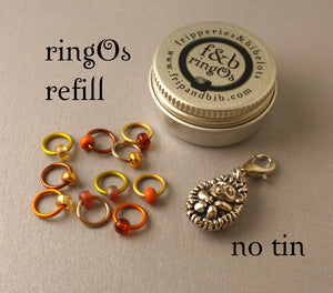 ringOs REFILL ~ Sleepy Hedgehog LIMITED EDITION ~ Snag Free Ring Stitch Markers for Knitting