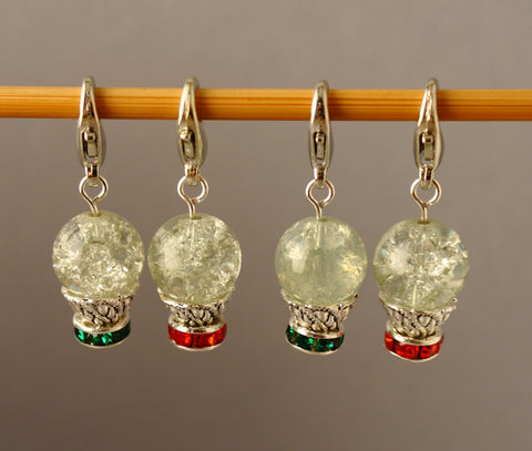 Little Snow Globes Stitch Markers for Crochet