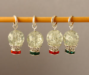 Little Snow Globes Stitch Markers for Knitting